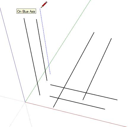 Het assenstelsel van sketchup - Amenager een stuk in de lengte ...