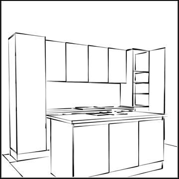 Sketchup oefeningen for Keuken in 3d tekenen
