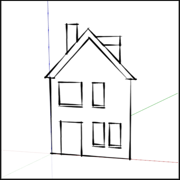 Oefening 2 voorgevel for Huizen tekenen